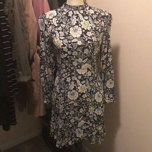 LOFT floral print mini dress